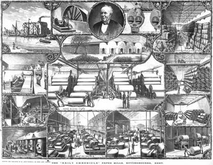 Poster showing Lloyd's Paper Mills.